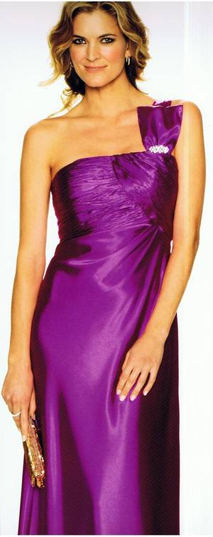 One Shouldered satin Gown