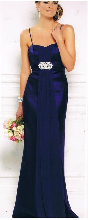 Sweetheart neckline satin gown