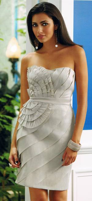 Strapless stretch taffeta dress  - NOT THE COLOUR PICTURED