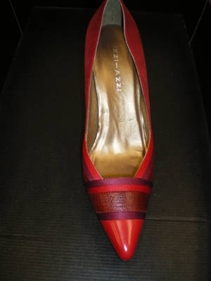 Red suede shoes - SALE - $175.00 down to $50.00