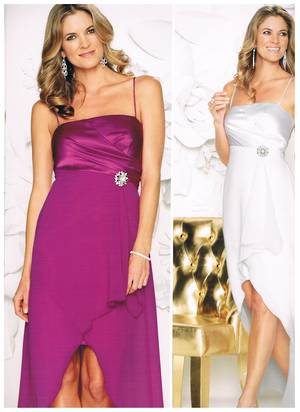 Satin and Chiffon Mullet Dress