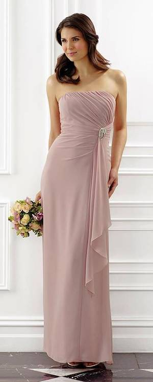 Strapless full length gown
