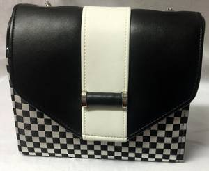 Black and white geometric bag - one only
