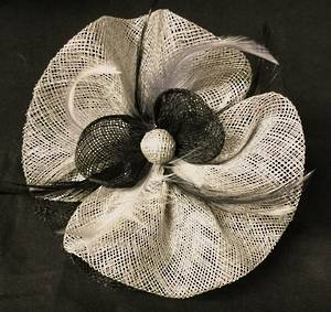 Silver and black circular fascinator