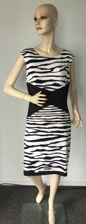 Black and white stripe dress - one only size 12