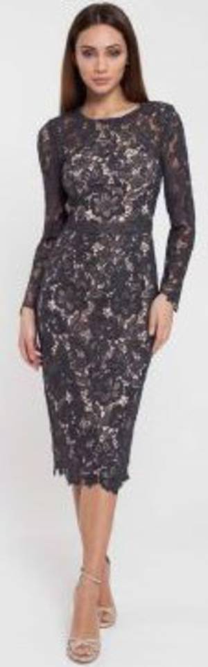 Lace dress over nude lining -size 12 only