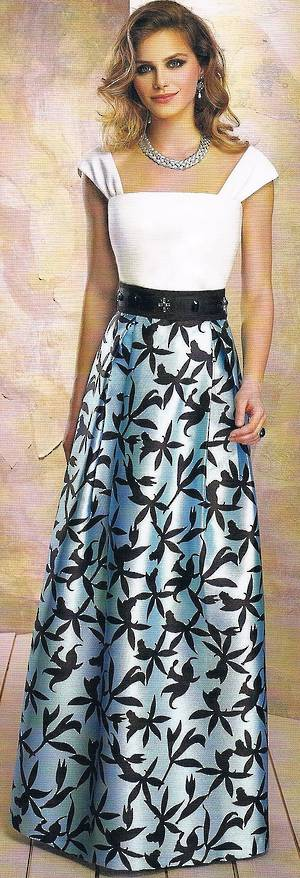 Silver and black A line gown - size 12/14