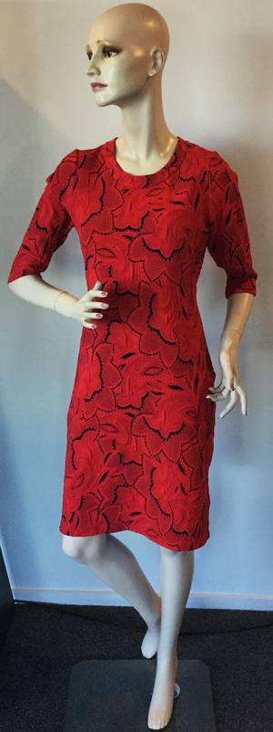 Red and black dress - sizes 10 and 14 only