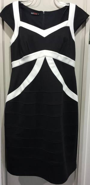 Black and winter white dress - size 16/18 only