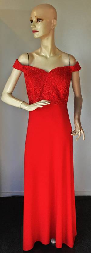 Off the shoulder gown - size 18 only