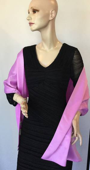 Dusky pink satin wrap - one only