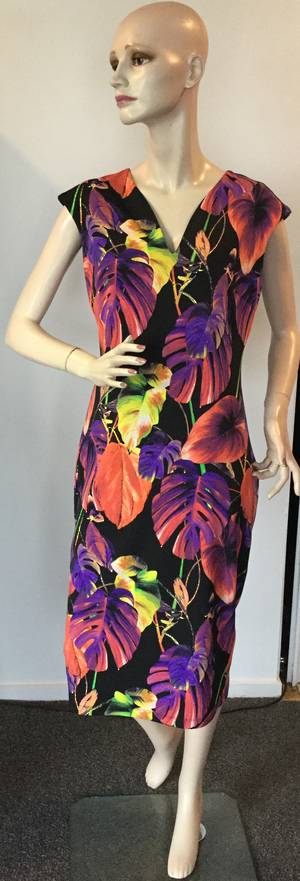 Multi coloured dress - size 8 only