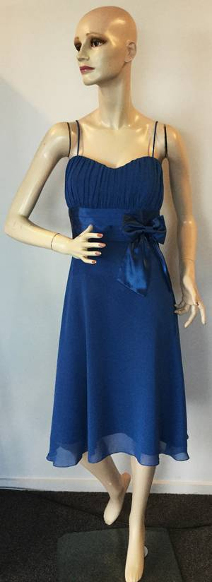 Chiffon and satin dress - size 14 only