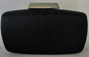 Black rounded clutch