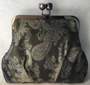 Gunmetal soft satin bag