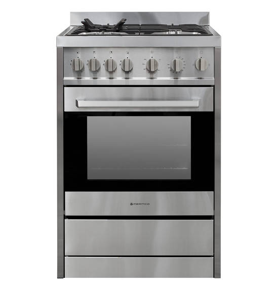 600mm Freestanding Stove, Full Gas, Stainless Steel (DISCONTINUED)