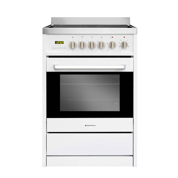 600mm 70 Litre Ceramic Freestanding Stove, White (DISCONTINUED)