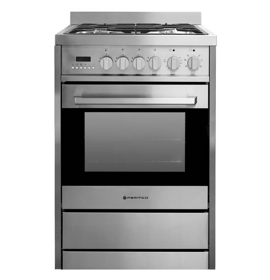 600mm, 70 Litre Combination Freestanding Stove, Stainless Steel