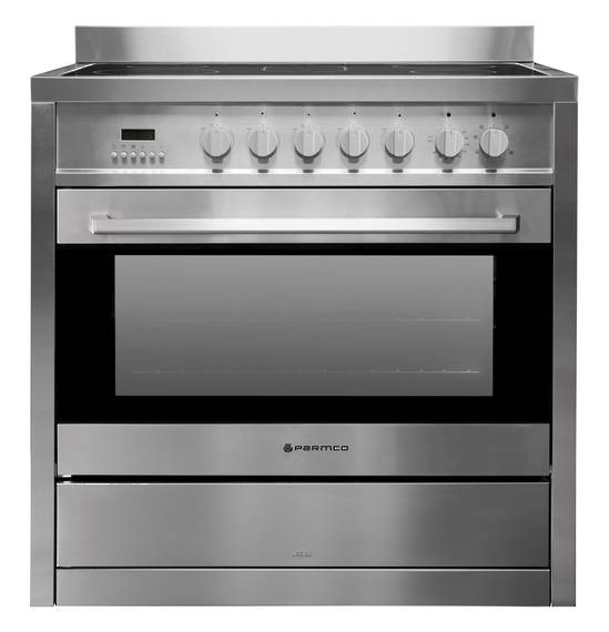 900mm Ceramic Freestanding Stove, Stainless Steel (DISCONTINUED)