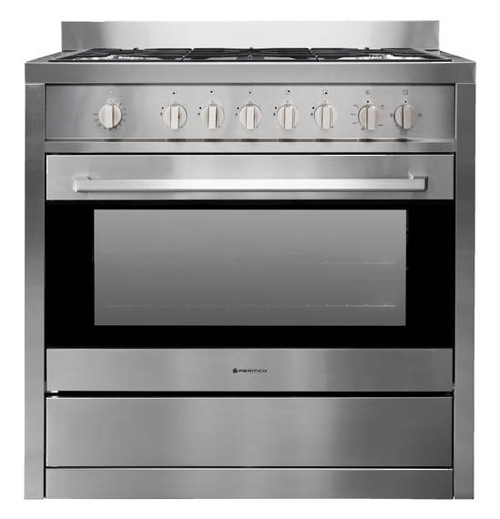 900mm Freestanding Stove, Full Gas, Stainless Steel (DISCONTINUED)