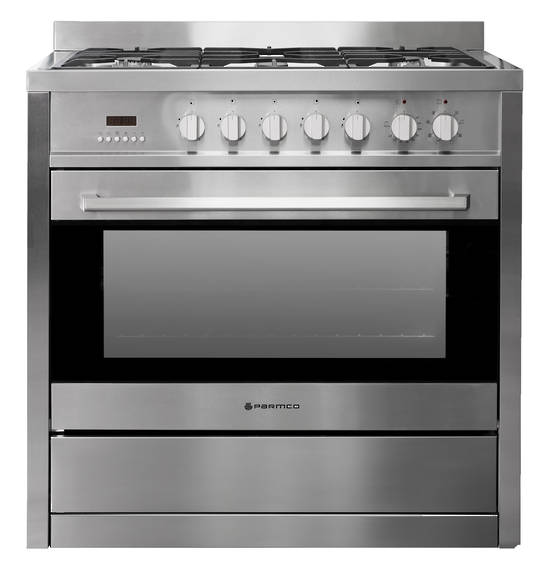 900mm Combination Freestanding Stove, Stainless Steel (DISCONTINUED)