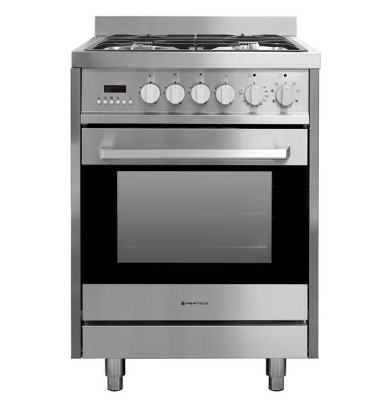 600mm Combination Freestanding Stove, Extendable Legs, Stainless Steel (DISCONTINUED)