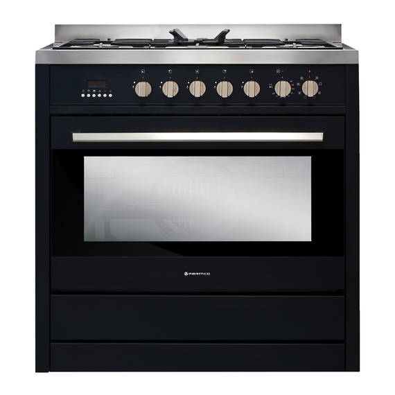 900mm Combination Freestanding Stove, Obsidian (DISCONTINUED)
