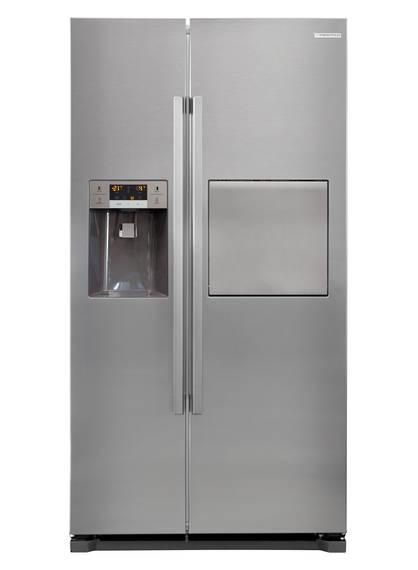 608L Fridge Freezer, Double Door, S/Steel (DISCONTINUED)