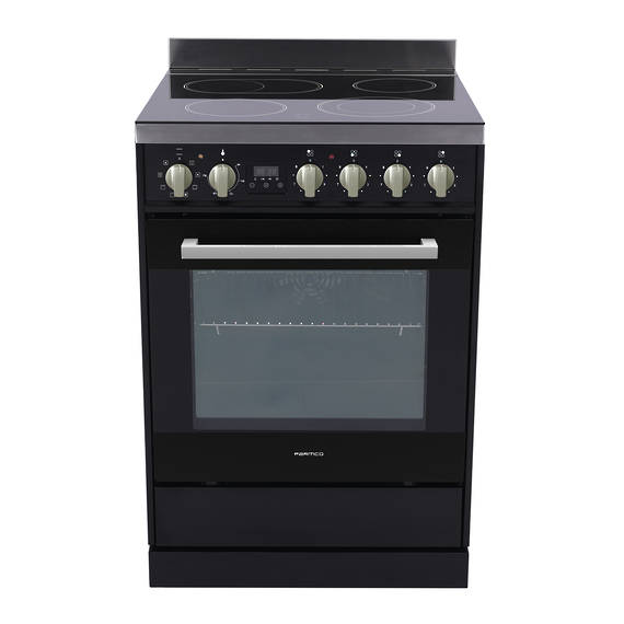 Freestanding Stove, 600mm, Black, Ceramic