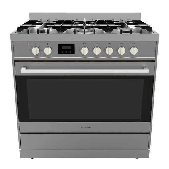 Freestanding Stove, 900mm, Combination, Stainless Steel
