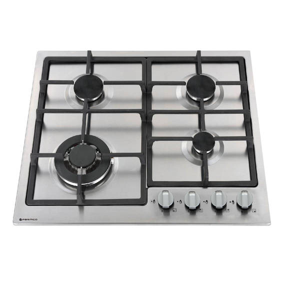 600mm Gas Hob, 3 Burner + Wok, Stainless Steel (DISCONTINUED)