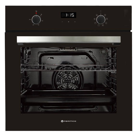 600mm 76Litre Oven, 8 Function, Black (DISCONTINUED)