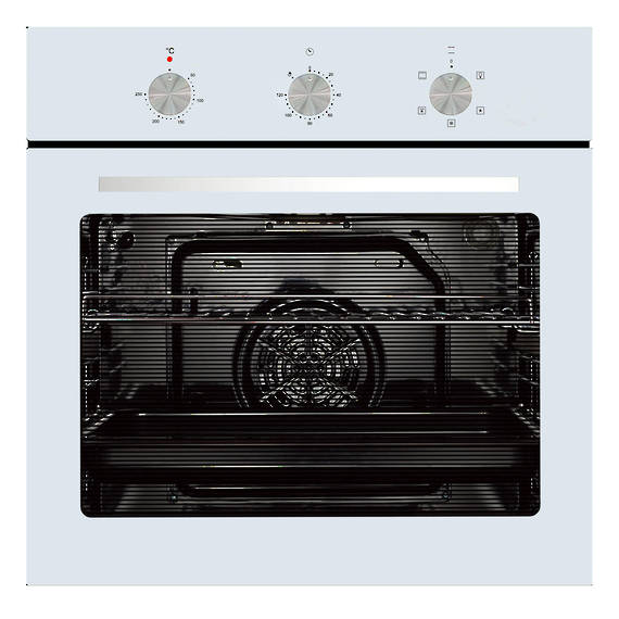 600mm 76Litre Oven, 5 Function, White (DISCONTINUED)