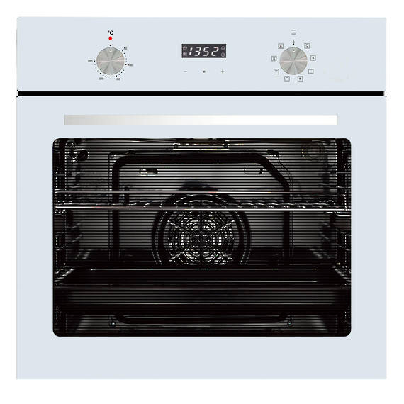 600mm 76Litre Oven, 8 Function, White (DISCONTINUED)