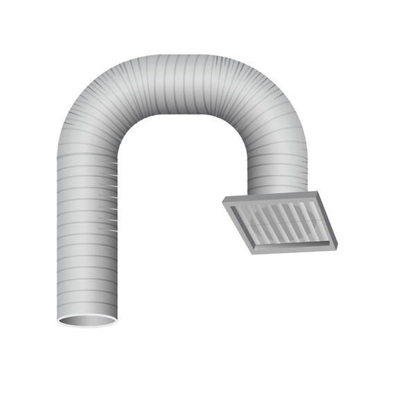 Rangehood Ducting Kit SOFFIT 150mm (DISCONTINUED)