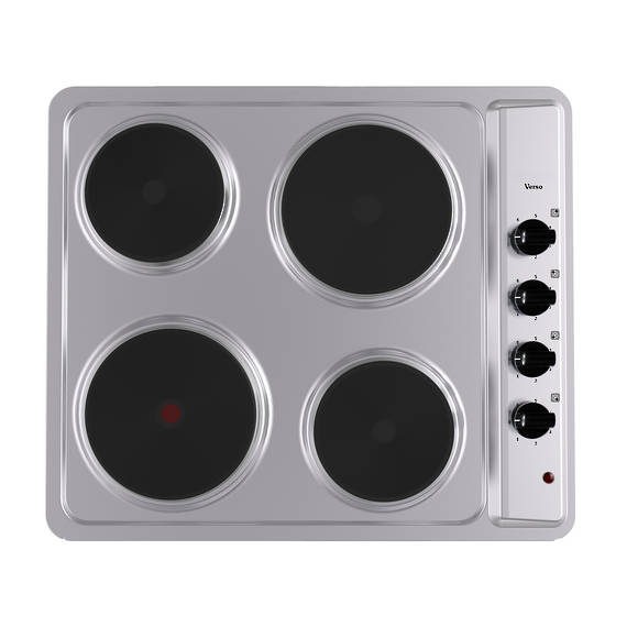 600mm Hob, 4 Element, Electric, Stainless Steel