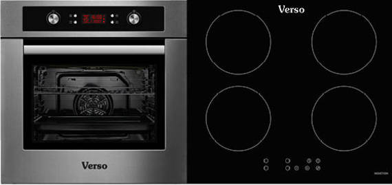 Verso 1 Pack 600mm Oven, 9 Function, Stainless Steel and 600mm Induction Cooktop  (DISCONTINUED)