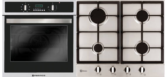 Verso 4 Pack 600mm Oven, 8 Function, Stainless Steel and 600mm Gas Cooktop (TO BE DISCONTINUED)