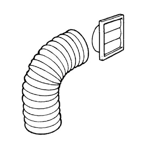 Rangehood Ducting Kit WALL 150mm
