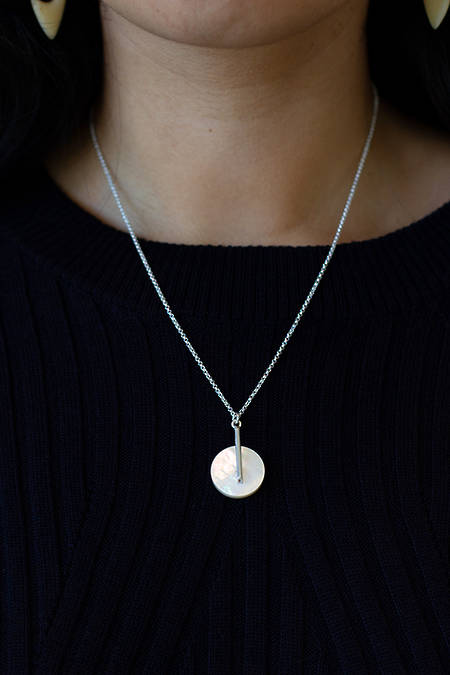 Mother of Pearl Circle Necklace