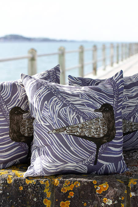 Petrel linen cushion