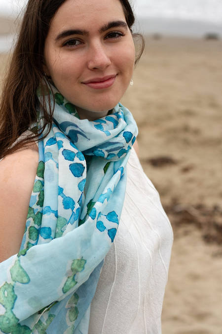 Rimurimu cotton silk scarf