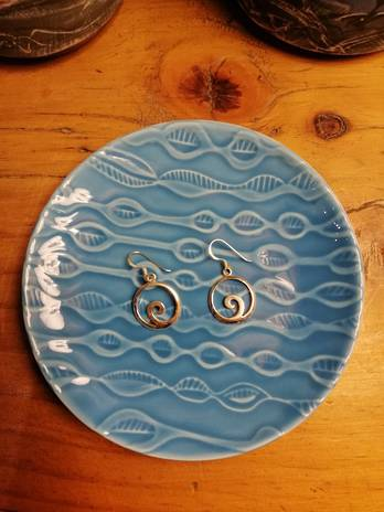 Koru in Circle Earrings