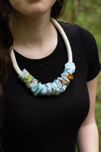 Vintage Silk Rope Necklace