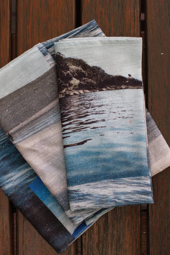 Coastal Collage 6 Napkin Set
