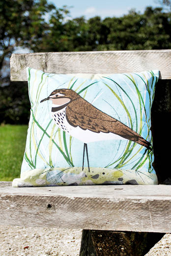 Dotterel cushion cover