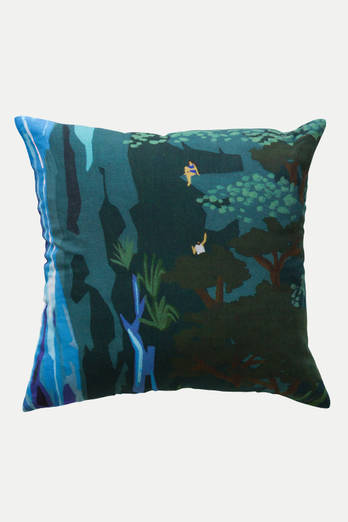 Waterfall Bush linen cushion