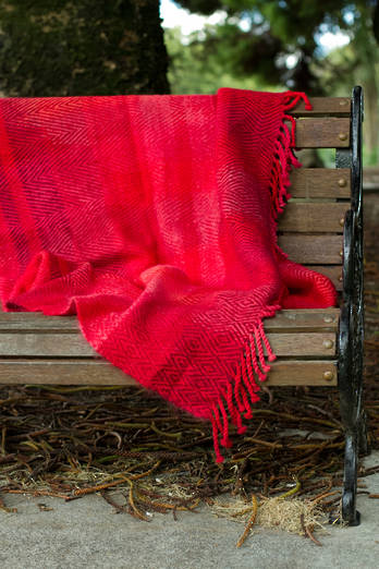 Sunset Merino Mohair Blanket