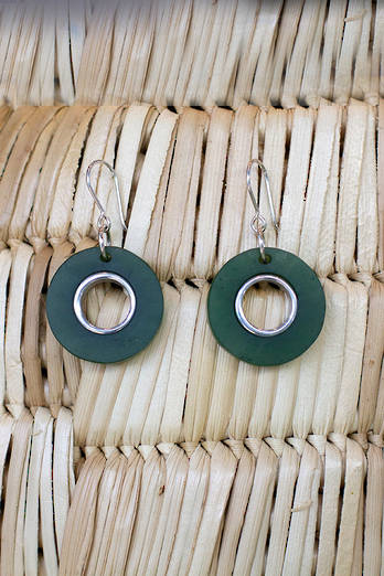 Pounamu Hoop Earrings