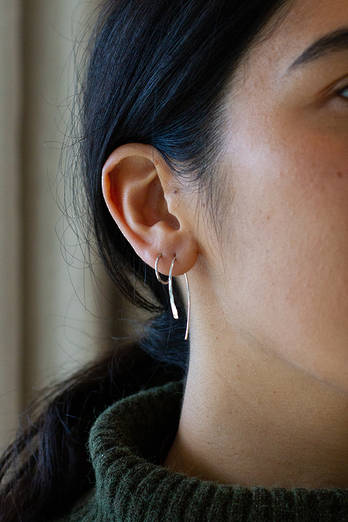 Silver Wishbone Earrings